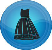 The button with clothes — Stock Vector