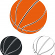 Stock Vector: Set of basketball balls