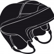 Vector de stock : Hockey helmet