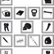 Icons with medical goods — Vector de stock #40918029