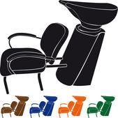 Lavabo pour salon de coiffure — Vecteur