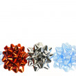 Stock Photo: Gift wrapping bows border