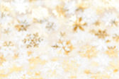 Christmas background with gold snowflakes — Stock Photo