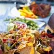 Nacho plate and appetizers - 