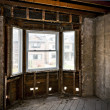 Home interior gutted for renovation — Stock Photo