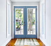 French patio glass door — Stock Photo
