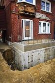 строительство дополнение к дому — Стоковое фото