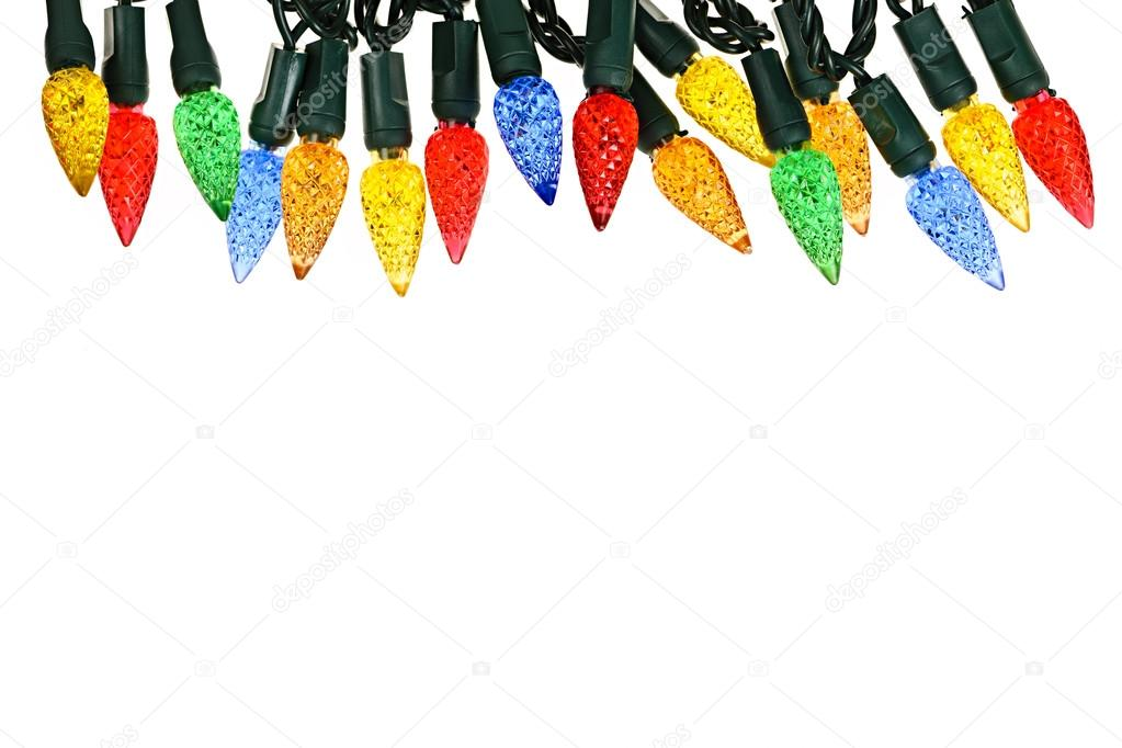 Multicolored string of Christmas lights isolated on white background — Stock Photo #16852667