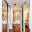 Royalty-Free Stock Photo: Mirrored closets and bathroom