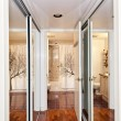 Stock Photo: Mirrored closets and bathroom