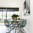 Modern condo dining room - Stock Photo