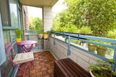 Apartment balcony — Stock Photo