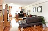 Interiér moderní obývací pokoj — Stock fotografie