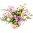 Flower arrangement on white — Stock Photo
