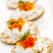 Caviar appetizers — Stock Photo