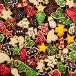 Homemade Christmas cookies — 图库照片