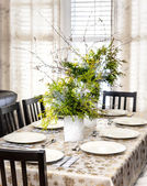 Decorated Christmas dining table — Stock Photo