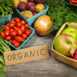 Organic market fruits and vegetables — Stock Photo