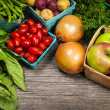 Fresh market fruits and vegetables — Stock Photo #27804297
