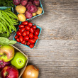 Fresh market fruits and vegetables — Foto Stock