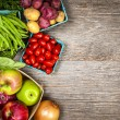 Fresh market fruits and vegetables — Stock Photo