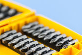 Screwdriver insert bits — Stock Photo