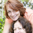 Mature mother and daughter — Stock Photo
