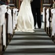 Wedding in church — Stockfoto