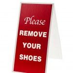 quitar tu signo de zapatos — Foto de Stock