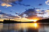 Lake sunset — Stock Photo
