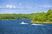 Boats on Georgian Bay — Stock Photo