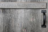 Old barn wood door — Stock Photo