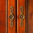 Door handles on cabinet — Stock Photo