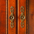 Door handles on cabinet — Stockfoto