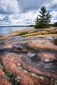 Rocky shore in Georgian Bay — Stock Photo