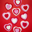 Red and pink Valentines day hearts — Stock Photo #39355853