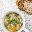 Stock Photo: Cup of chicken soup