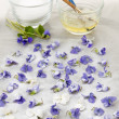 Making candied violets — Stock Photo #39353671