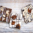 Chocolate caramel bark pieces — Stock Photo #39354365