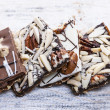 Stock Photo: Chocolate caramel bark pieces