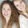 Portrait of two smiling women — Stock Photo