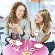Two women having coffee — Stock Photo