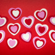 Red and pink Valentines day hearts — Stock Photo #39355605