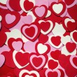 Red and pink Valentines day hearts — Stock Photo
