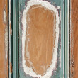 Stock Photo: Old painted wood background with frame