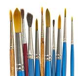 Paintbrushes on white — Stock Photo