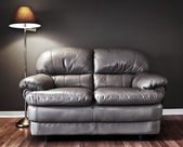 Couch and lamp — Stock Photo