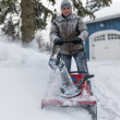 Man using snowblower — Stock Photo