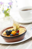 Creme brulee dessert — Stock Photo
