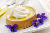 Lemon tart dessert — Stock Photo